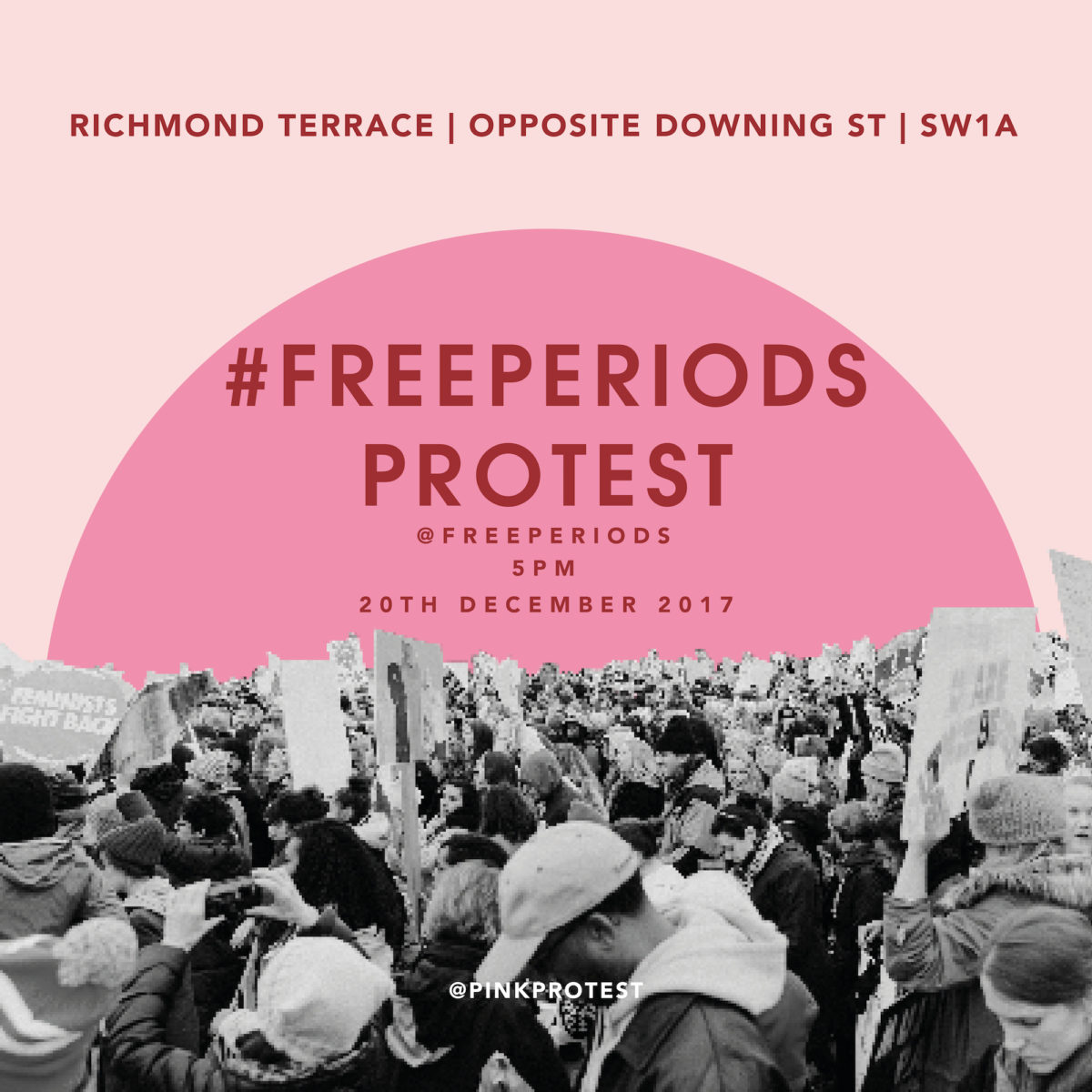 Callaly #freeperiods protest